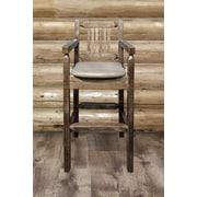 Montana Woodworks  Homestead 30'' Bar Stool; Buckskin Upholstered