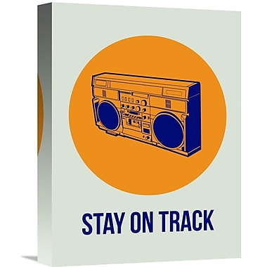 Naxart 'Stay On Track BoomBox 1' Graphic Art on Wrapped Canvas; 16'' H x 12'' W x 1.5'' D
