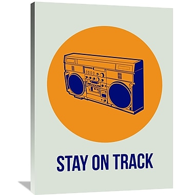 Naxart 'Stay On Track BoomBox 1' Graphic Art on Wrapped Canvas; 40'' H x 30'' W x 1.5'' D