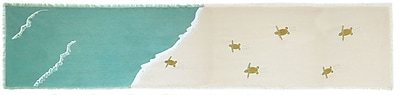 Rightside Design I Sea Life Coastal Table Runner