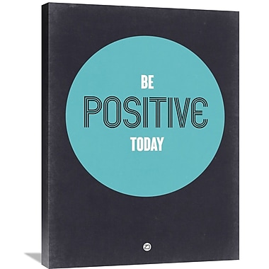 Naxart 'Be Positive Today 2' Textual Art on Wrapped Canvas; 32'' H x 24'' W x 1.5'' D
