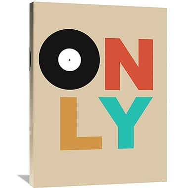Naxart 'Only Vinyl Poster 1' Textual Art on Wrapped Canvas; 40'' H x 30'' W x 1.5'' D
