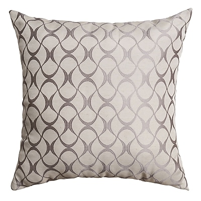 Softline Home Fashions Hechi Throw Pillow; Silver
