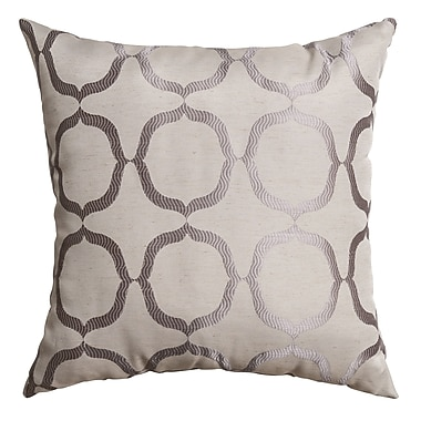 Softline Home Fashions Lapeer Throw Pillow; Silver