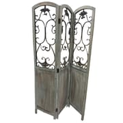 Screen Gems 68'' x 48'' Del Rio 3 Panel Room Divider; Washed Brown