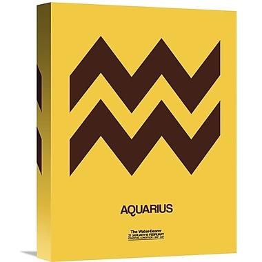 Naxart 'Aquarius Zodiac Sign' Graphic Art on Wrapped Canvas; 16'' H x 12'' W x 1.5'' D