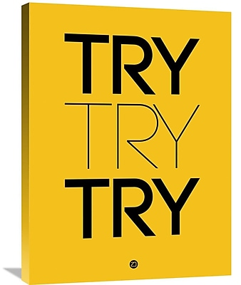Naxart 'Try Try Try Poster' Textual Art on Wrapped Canvas; 32'' H x 24'' W x 1.5'' D