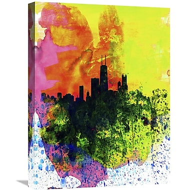 Naxart 'Chicago Watercolor Skyline' Graphic Art on Wrapped Canvas; 24'' H x 18'' W x 1.5'' D