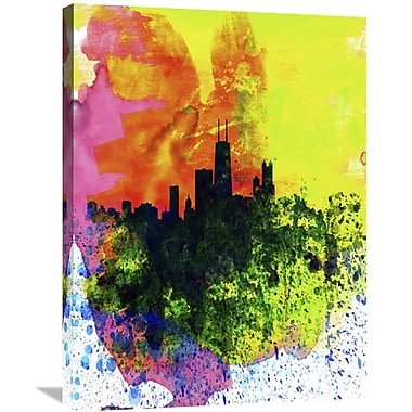 Naxart 'Chicago Watercolor Skyline' Graphic Art on Wrapped Canvas; 32'' H x 24'' W x 1.5'' D