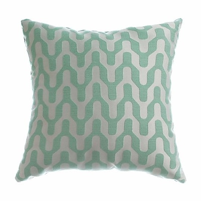 Softline Home Fashions Victor Throw Pillow; Seafoam