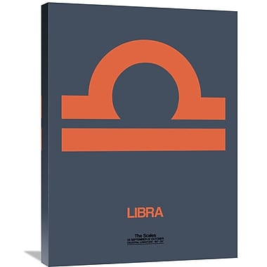 Naxart 'Libra Zodiac Sign' Graphic Art on Wrapped Canvas in Orange; 32'' H x 24'' W x 1.5'' D