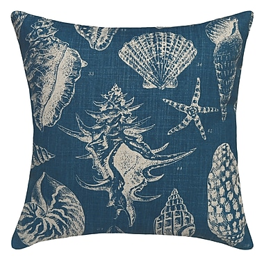 123 Creations Seashell Printed Linen Throw Pillow