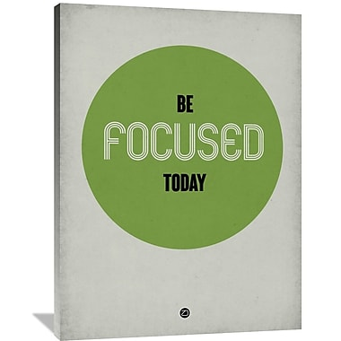Naxart 'Be Focused Today 1' Textual Art on Wrapped Canvas; 48'' H x 36'' W x 1.5'' D