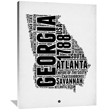 Naxart 'Georgia Word Cloud 2' Textual Art on Wrapped Canvas; 48'' H x 36'' W x 1.5'' D