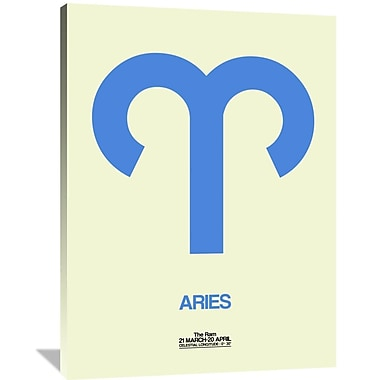 Naxart 'Aries Zodiac Sign' Graphic Art on Wrapped Canvas in Blue; 48'' H x 36'' W x 1.5'' D