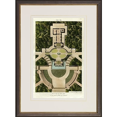 Art Virtuoso Villa Garden Plans by Charles Percier and P.F. Fontaine Framed Painting Print