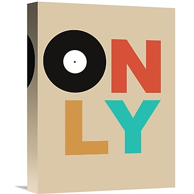 Naxart 'Only Vinyl Poster 1' Textual Art on Wrapped Canvas; 16'' H x 12'' W x 1.5'' D