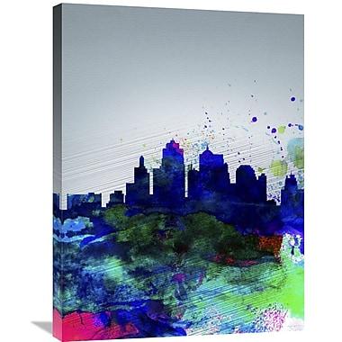 Naxart 'Kansas City Watercolor Skyline' Graphic Art on Wrapped Canvas; 32'' H x 24'' W x 1.5'' D