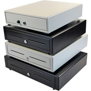 APG Cash Drawers® Vasario 1313 VB320-AW1313-B27 4 Bill/4 Coin/2 Media Slot Printer Driven Cash Drawer, White