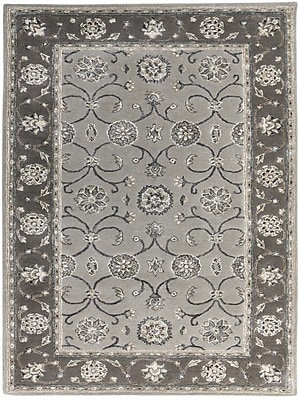 AMER Rugs Eternity Hand-Tufted Gray Area Rug; Rectangle 7'6'' x 9'6''