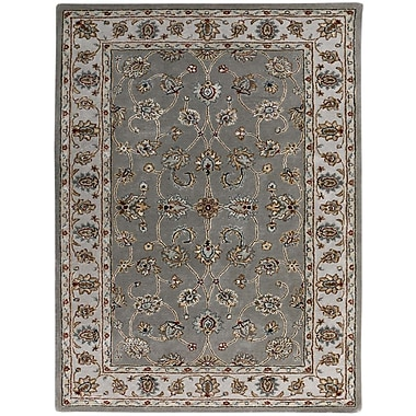 AMER Rugs Eternity Hand-Tufted Gray Area Rug; Rectangle 5' x 8'