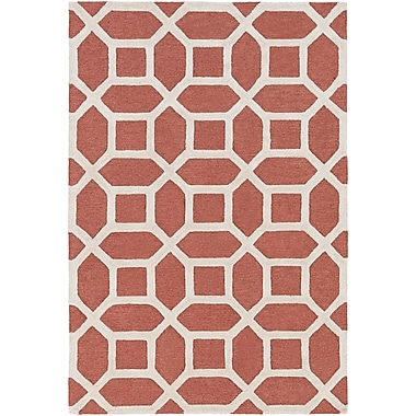 Artistic Weavers Arise Evie Hand-Tufted Coral Area Rug; Round 3'6''