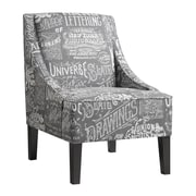 Right2Home Upholstered Arm Chair, Chalkboard Shadow (DS-2516-900-396)