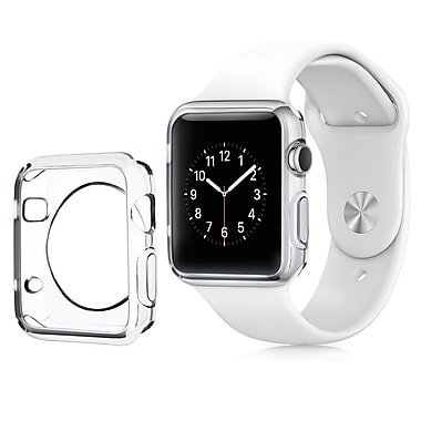 Insten Clear Transparent Ultra Thin Protective TPU Rubber Gel Bumper Case For Apple Watch 38mm (2102588)