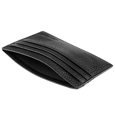 Zodaca Black Genuine Leather Slim Card Holder ID Credit Card Keeper Case (1997450)