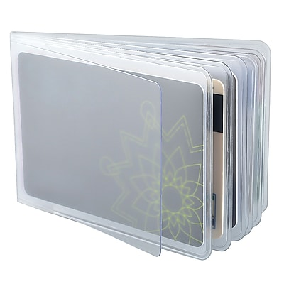 Zodaca PVC Detachable Name Card Credit Holder Wallet Case Cover