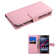 Insten Universal Leather Wallet Case with Card Slot for iPhone 6 6S / HTC Desire 510 610 612 / Moto X 1st 2nd, Pink