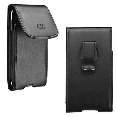 Insten Vertical Leather Case With Clip For iPhone 6/Alcatel One Touch 7040/Samsung Galaxy S4 S3/LGLS885, Black (2003580)
