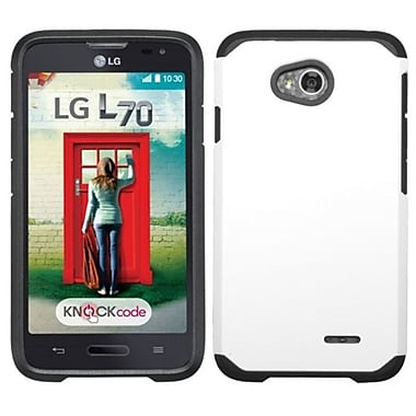 Insten Hard Case For LG Optimus Exceed 2 VS450PP Verizon/Optimus L70 MS323/Realm LS620, White (2068628)