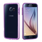 Insten Bumper Case with Shock-proof Trim for Samsung Galaxy S6, Purple/Transparent Clear