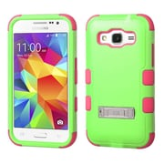 Insten Hard Dual Layer Rubberized Silicone Case withstand for Samsung Galaxy Core Prime, Green/Pink