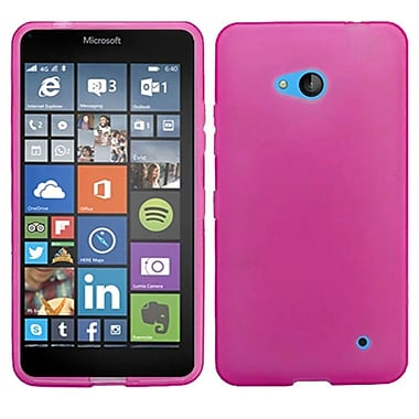 Insten Frosted Gel Cover Case For Microsoft Lumia 640, Hot Pink (2101444)