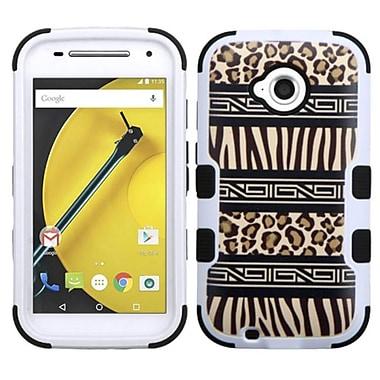 Insten Tuff Zebra Hybrid Cover Case for Motorola Moto E (2nd Gen 2015), Brown/Black