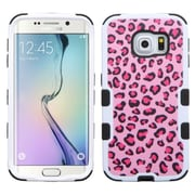 Insten Tuff Butterfly/Heart Armor Hard Dual Layer Silicone Case for Samsung Galaxy S6 Edge, Hot Pink/Black