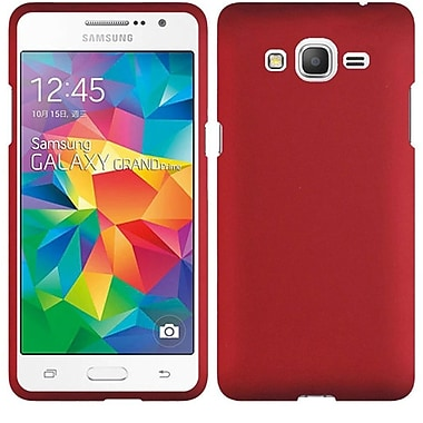Insten Hard Rubber Coated Case For Samsung Galaxy Grand Prime, Red (2112641)