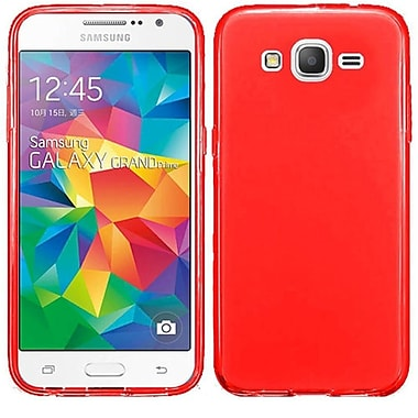 Insten Frosted Gel Cover Case For Samsung Galaxy Grand Prime, Red (2112858)