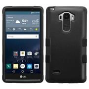 Insten Tuff Hard Hybrid Rugged Shockproof Rubber Silicone Case for LG G Stylo, Black by