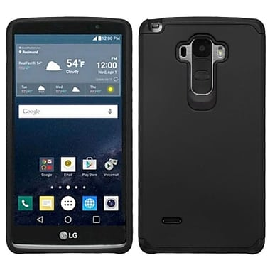 Insten Hard Dual Layer Rubberized Silicone Case For LG G Stylo, Black (2121353)