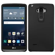 Insten Hard Dual Layer Rubberized Silicone Case for LG G Stylo, Black