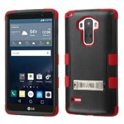 Insten Hard Dual Layer Rubber Silicone Case withstand for LG G Stylo, Black/Red by
