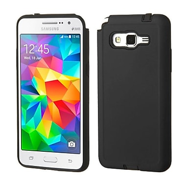 Insten Hard Hybrid Rugged Shockproof Rubber Coated Silicone Case For Samsung Galaxy Grand Prime, Black (2124108)