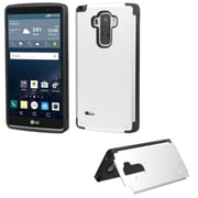 Insten Hard Hybrid Case withcard holder for LG G Stylo, Silver