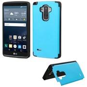 Insten Hard Rubberized Cover Case withcard holder for LG G Stylo, Blue