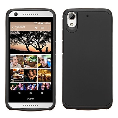 Insten Hard Hybrid Rubber Coated Silicone Cover Case For HTC Desire 626, Black (2130141)