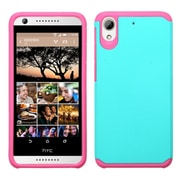Insten Hard Dual Layer Rubber Silicone Cover Case for HTC Desire 626, Teal/Hot Pink
