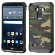 Insten Camouflage Hard Hybrid Silicone Case for LG G Stylo, Green/Black